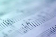 handskriven musikalisk ställning royaltyfri fotografi