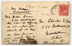 handskriven vykort scotland Royaltyfria Foton