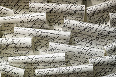 handskrivet Arkivbilder