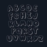 handskrivet alfabet Royaltyfri Fotografi