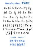 handskrivet alfabet Arkivbild