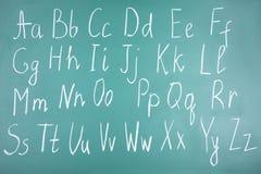 handskrivet alfabet Royaltyfria Bilder