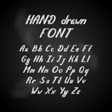 Handskrivet alfabet för bokstävervektorstilsort vektor illustrationer