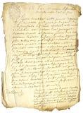 Handstil på gammalt märker Arkivbild