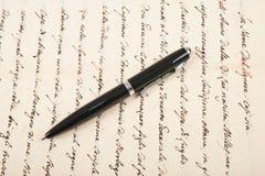Handskrivet med pennan arkivfoto