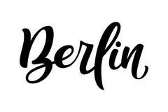 Handskrivet stadsnamn Hand-bokstäver kalligrafi berkshires Handm stock illustrationer