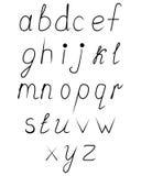Handskrivet uppercase alfabet Arkivbild