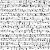 Handskrivna musikaliska anmärkningar Royaltyfria Bilder