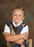 Handsom boy. Handsom young russian boy smiling, studio shot Royalty Free Stock Photography
