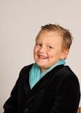 Handsom boy. Handsom young russian boy smiling, studio shot Stock Images