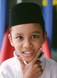 Handsom boy from Malaysia. Malaysia boy with the local wearing Stock Photo