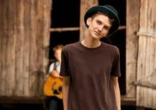 Handsom teen boy portrait Stock Photos