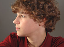 Handsome 12-year old boy Stock Photography