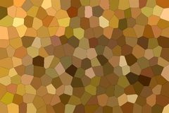 Handsome abstract illustration of brown and red impressionism Middle size hexagon. Useful background for your project. Handsome abstract illustration of brown stock illustration