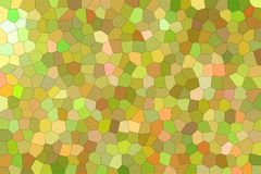 Handsome abstract illustration of green, yellow and orange bright Little hexagon. Nice background for your needs. Handsome abstract illustration of green stock illustration