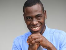 Demonic Business Person. A handsome adult african male Stock Image