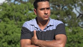 Negative Adult Hispanic Man And Rejection. A handsome adult hispanic man stock footage