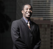 Handsome African American businessman Royalty Free Stock Photo
