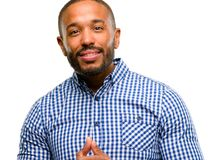 Handsome african american man royalty free stock photos