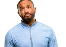 Handsome african american man stock photos