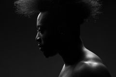 Handsome african american man. Portrait of handsome young african american man with stylish hairstyle Stock Photo