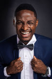 Handsome african american man with positive expression Stock Image