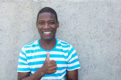 Handsome african american man showing thumb Royalty Free Stock Photo