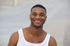 Handsome african american man smiling Stock Photography