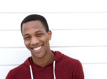 Handsome african american man smiling royalty free stock photo