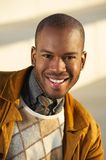 Handsome african american man smiling outdoors Royalty Free Stock Image