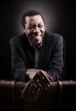 Handsome african black man studio portrait. royalty free stock images