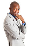 Handsome African businessman Stock Photography