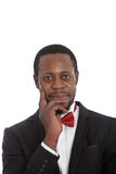 Handsome African man in a bow tie Stock Photography