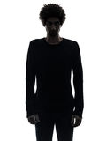 Handsome african serious young man silhouette Stock Photo