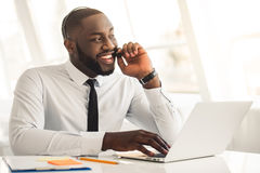 Handsome Afro American businessman Royalty Free Stock Photos