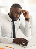 Handsome Afro American businessman Royalty Free Stock Image
