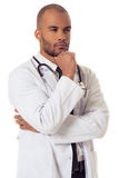 Handsome Afro American doctor Royalty Free Stock Image