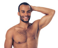 Handsome Afro American man Royalty Free Stock Images