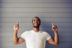 Handsome Afro American man Stock Photo