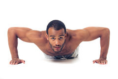 Handsome Afro American sportsman Stock Images