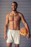 Handsome Afro American sportsman Royalty Free Stock Photos