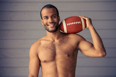 Handsome Afro American sportsman Royalty Free Stock Photography