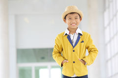 Handsome Asian boy post Royalty Free Stock Images