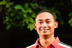 Handsome asian  ethnic young adult male portrait Royalty Free Stock Photos