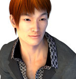 Handsome Asian Guy. 3d render of a handsome Asian guy Royalty Free Stock Photos