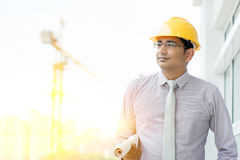 Handsome Asian Indian male site contractor engineer Royalty Free Stock Photography