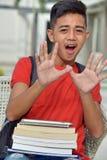 Boy Student Afraid royalty free stock images