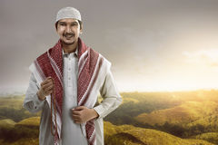 Handsome asian muslim man Stock Photography