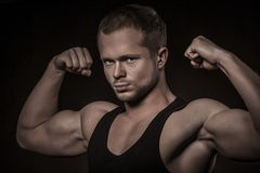 Handsome athlete Royalty Free Stock Photos