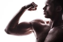 Handsome athlete Stock Photography